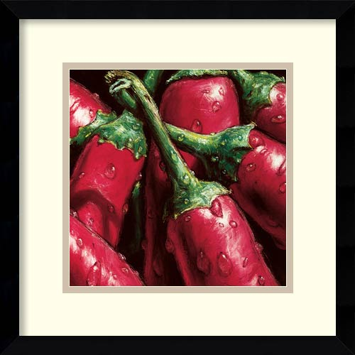 Amanti Art Hot Peppers by Alma'Ch: 15.13 x 15.13 Print Reproduction