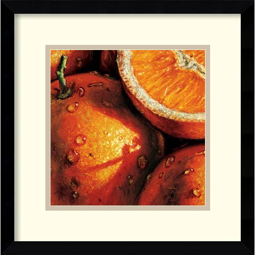 Amanti Art Oranges by Alma'Ch: 15.13 x 15.13 Print Reproduction