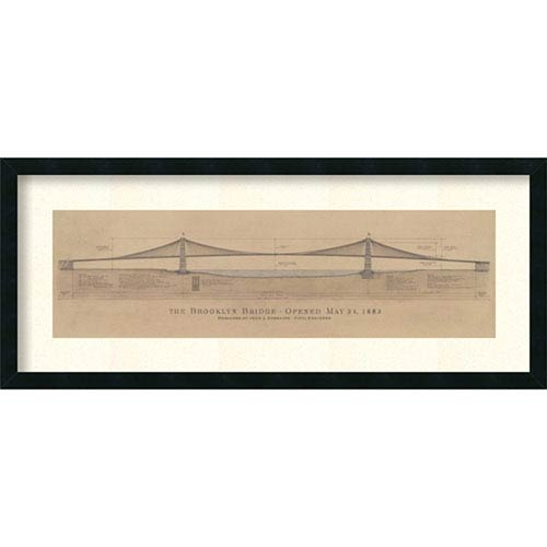 Brooklyn Bridge By Craig S. Holmes : 40 x 17-Inch