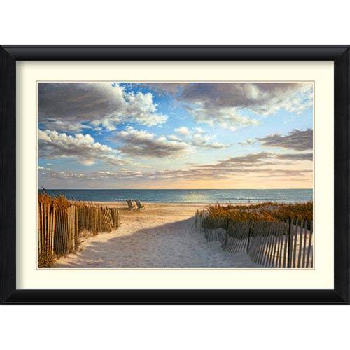 Amanti Art Sunset Beach by Daniel Pollera: 43 x 32-Inch Framed Art Print