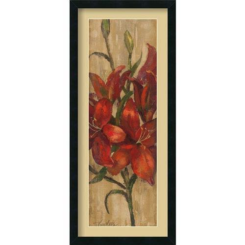 Amanti Art Vivid Red Lily on Gold by Silvia Vassileva: 18 x 42-Inch Framed Art Print