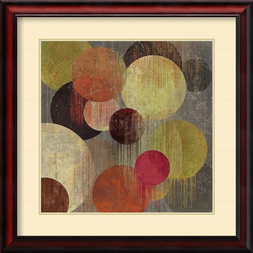 Amanti Art Magenta Bubbles I by Tom Reeves: 26 x 26 Print Reproduction