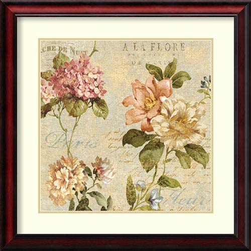Fleur Paris I by Deborah Devellier: 28 x 28-Inch Framed Art Print