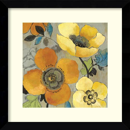 Amanti Art Yellow and Orange Poppies I by Allison Pearce: 26.63 x 26.63 Print Reproduction