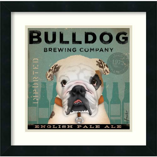 Amanti Art Bulldog Brewing by Stephen Fowler: 18 x 18 Print Reproduction