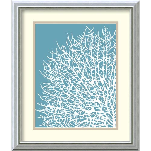 Amanti Art Aqua Coral I by Sabine Berg: 17 x 20 Print Reproduction
