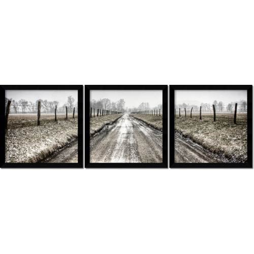 Amanti Art Picket Path Triptych by Todd Ridge: 13.13 x 13.13 Print Reproduction, Set of Three