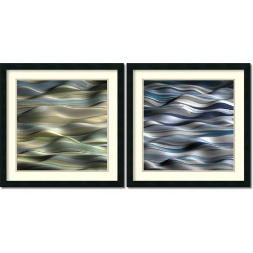 Amanti Art Undulation by J.P. Clive: 24 x 24 Print Reproduction, Set of Two