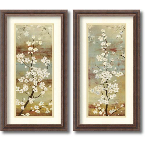 Amanti Art Blossom Canopy by Asia Jensen: 14.25 x 26.25 Print Reproduction, Set of Two