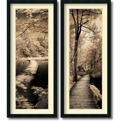 Amanti Art A Quiet Stroll by Ily Szilagyi: 18 x 42 Print Reproduction, Set of Two