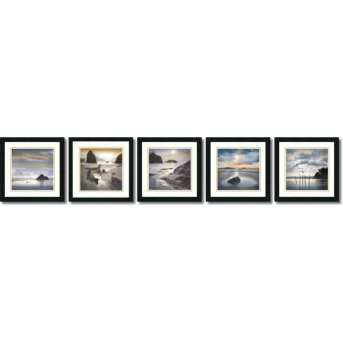 Amanti Art Vanscoy Coastal Photography by William Vanscoy: 18 x 18 Print Reproduction, Set of Five