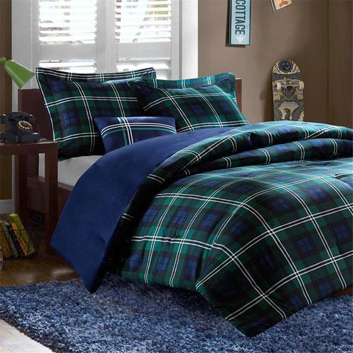 Brody Blue Three-Piece Twin Comforter Set
