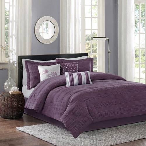 Madison Park Hampton Purple Seven-Piece Queen Comforter Set