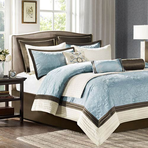 Juliana Blue Nine-Piece Queen Comforter Set