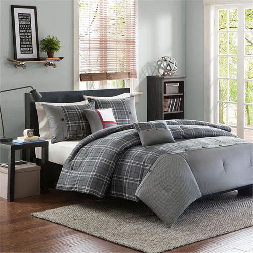 Daryl Gray Four-Piece Twin/Twin XL Comforter Set
