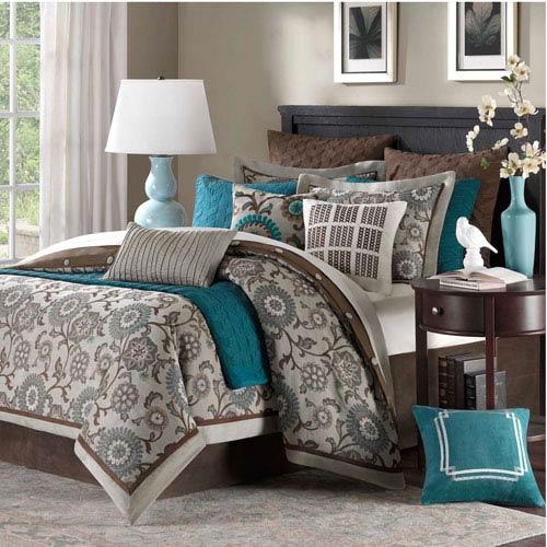 Bennett Place Nine-Piece Queen Duvet Style Comforter Set