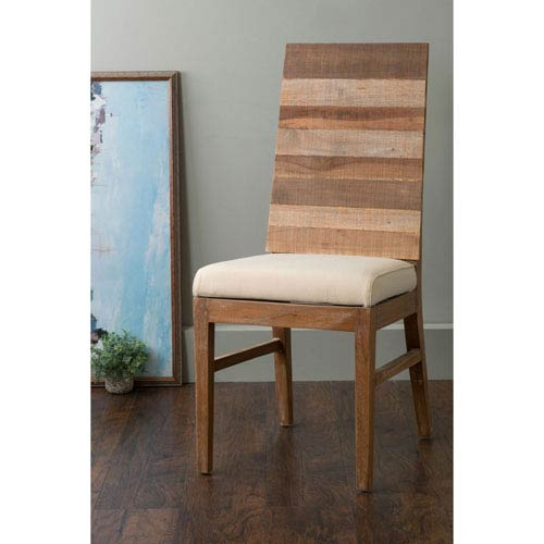 Cantril Brown Square Teakwood Dining Chair
