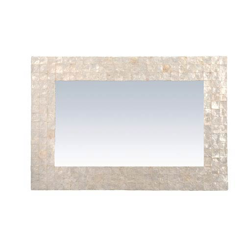 Campbell Off-White Rectangle Natural Shell - Capiz Wall Mirror