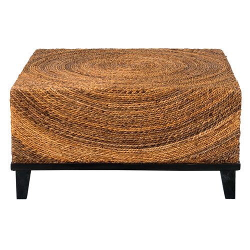 Charmant East At Main Chickasaw Brown Abaca Square Coffee Table