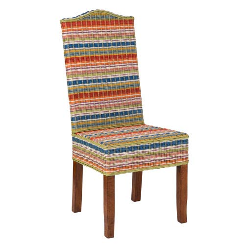 Heaton Multi-Colored Rattan Dining Chair