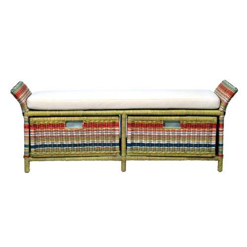 Hemphill Multi-Colored Abaca Bench
