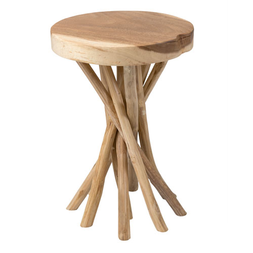 Kenton Brown Teakwood Round Accent Table