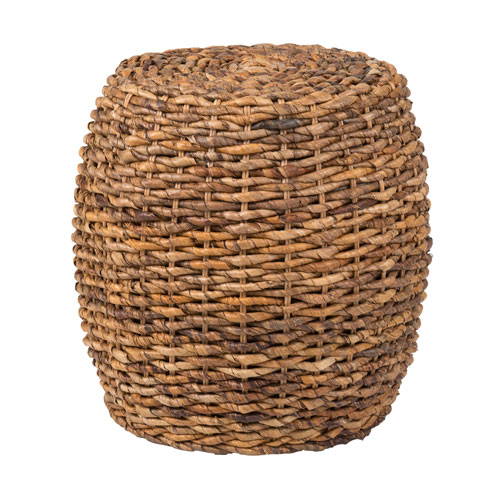 East at Main Merriam Brown Abaca Round Accent Table