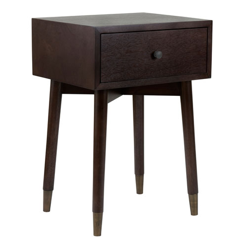 East at Main Weeks Brown Acacia Wood Square Accent Table