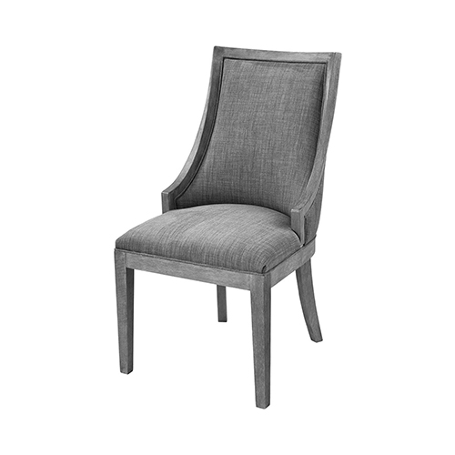 Cupertino Reclaimed Grey Wood and Grey Chenille 22-Inch Dining Chair