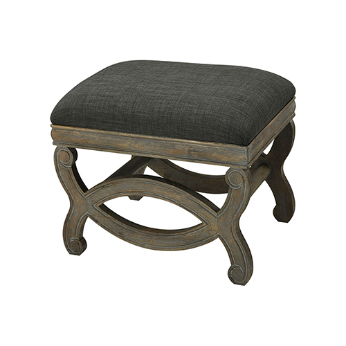 Five Boroughs Reclaimed Brown, Grey Wood and Forest Floor Linen 22.5-Inch Bench