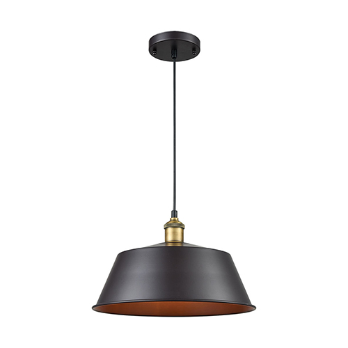 Sterling Industries Growler Rust and Antique Brass One-Light 14-Inch Mini Pendant
