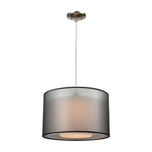 Sterling Industries Dusk Lamp Black and White Pendant