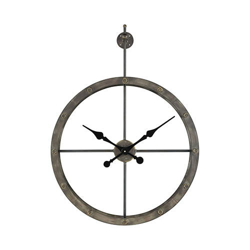 Sterling Industries Depeche Wall Grey Iron 24-Inch Clock