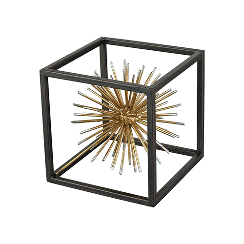 Gleam Dark Bronze and Gold Decorative Accessory