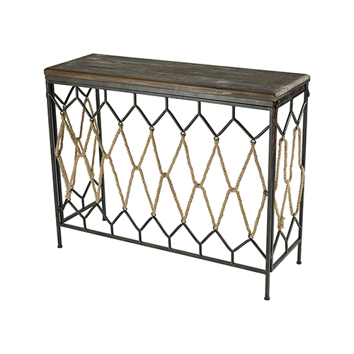 Sterling Industries Rope Sand Blasted Hazelnut and Rust 41-Inch Console
