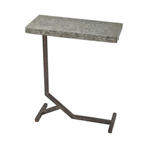 Mettle Bronze and Galvanized Steel Accent Table