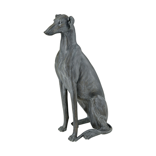 Purr Restoration Grey Dog Decorative Statue