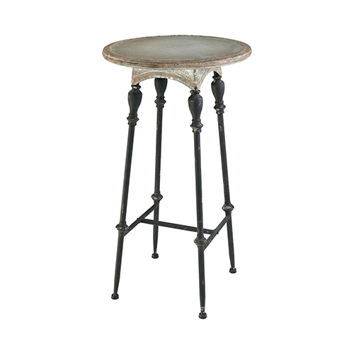 Sterling Industries Yonkers Galvanized Steel And Rust 24 Inch Accent Table