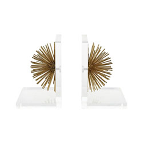 Glint Gold and White Bookends