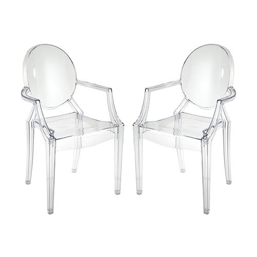 Vanish Clear 22-Inch Chair