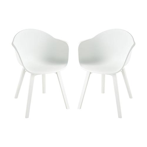 White 24-Inch Chair