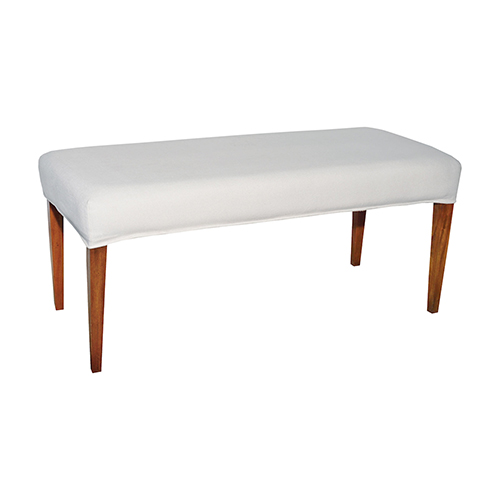Couture Covers Pure White 49-Inch Bench Cover Only