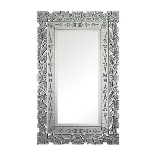 Sterling Industries Clear and Rectangular Mirror 50-Inch Rectangular Mirror