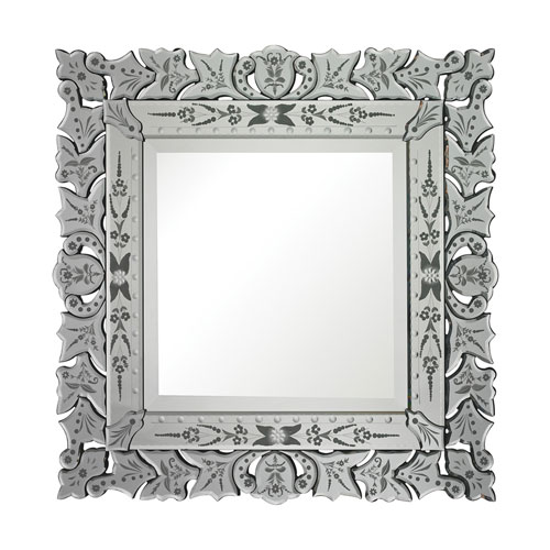Clear and Square Mirror 30-Inch Square Mirror