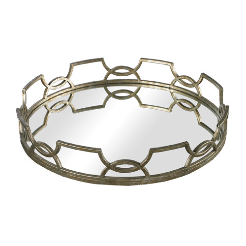 Sterling Industries Bronze and Silver 16-Inch Tray