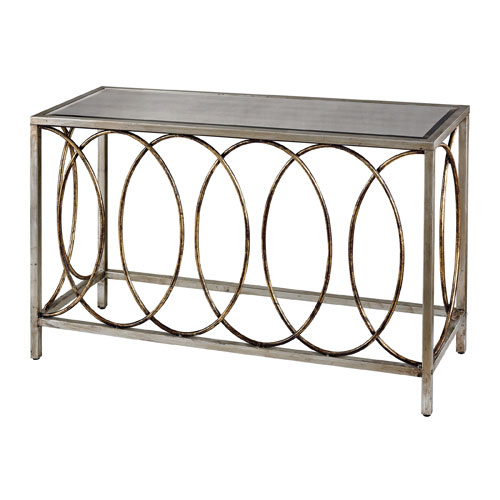 Merveilleux Sterling Industries Gold And Silver 31 Inch Console Table