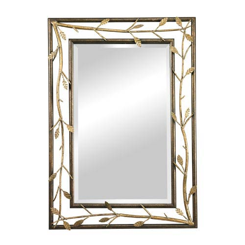 Sterling Industries Bakewell Bronze and Gold 39.875-Inch Rectangular Mirror