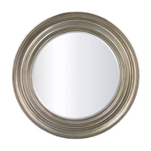 Fillerton Round Mirror in Antique Silver Leaf