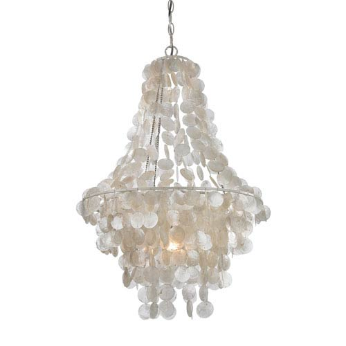 Mother Of Pearl Shell and White 23-Inch One Light Mini Pendant