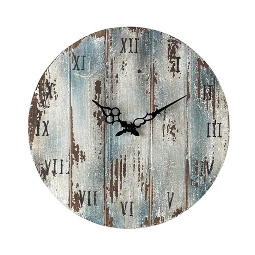 Sterling Industries Wooden Roman Numeral Outdoor Wall Clock